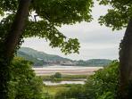 Garden views towards Conwy Castle