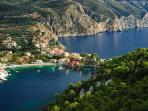 Assos is on the way to Fiscardo just after Myrto. Have your lunch at traditional Greek tavern