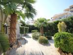 Entrance to the villa and gardens