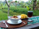 BubuR Ayam /B'Fast At ubud Paradise villa. .. The best bubur ala sumaba