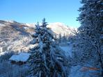 Début de matinée après une chute de neige