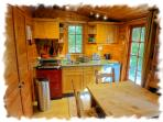 Kitchen with AGA cooker, Fridge, Combination microwave, dishwasher etc.