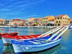 Le port et les barques à joutes