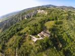 foto aerea della villa