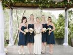 Ibiza wedding venues - Bride and Bridesmaids