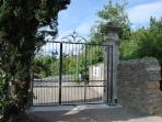 property entry with security gate