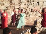 rievocazione storica sulle rovine dell'Antica Norba