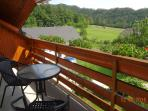 Balcony 2 - it's 5 meters wide and equipped with garden furniture (1 table, 6 chairs, 1 lounger)