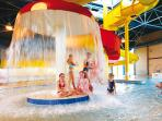 The parks indoor pool with flume is included in the price of your stay.