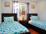 Two twin beds in bedroom #4
