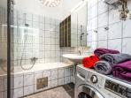 Comfortable bathroom with exclusive washer-dryer