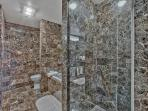 Shower and Bath Area