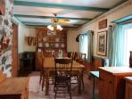 Cook up some great meals and enjoy them in the large dining room.