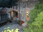 L'Appartamento Azzurro is on the 2nd floor of La Casa Padronale, the apt.'s terrace off left...