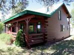 Here is a charming, 3 bedroom, rustic cabin rental in Pagosa Springs.