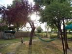 Giardino privato e recintato,perfetto per bambini.