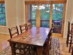 View of dining area  and private deck in Town Pointe Treasure - Park City