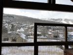 View from the deck facing Park City Resort and ski slopes in Town Pointe Treasure - Park City