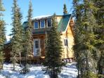 Enjoy our Aurora Pond Cabin and our Winter Dog Sled Rides