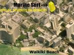 Only one block or 0.25mile or 5min walk from the world famous Waikiki  Beach!
