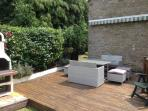 Decking area with traditional BBQ area