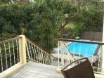 View of pool from TECOMA patio