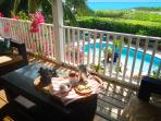 Upstairs Veranda Ocean and Pool View