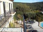 terrasse balcon des chambres
