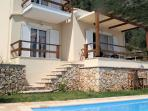 A two storey villa with private pool