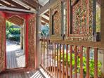 Walk through the beautiful Balinese doors to the entry area