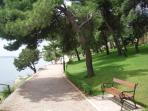Part of seaside promenade 3 km long in front of the villa
