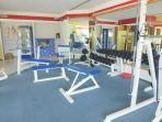 Teil des Fitnessraums