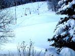 Skilift  und nebenan Kleinkinderskilift