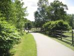 Enter onto Stowe's Famous 6 mile long, paved Rec Path - 50 yds from Tennis Courts