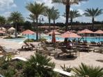 Swimming pool and sunbathing area