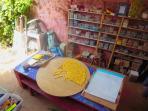 l'atelier mosaïque dans la maison