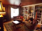 Library with TV - can be converted to Queen bedroom, en suite bath