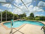 Pool and Spa within the Screened Area