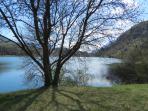 il lago di S.Massenza a due minuti dalla casa