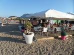 One of many beach bars within 5 minutes walk