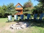 EcoCabin: Lakefront, Huge private campfire pits
