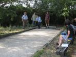 The bocce ball court