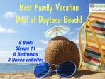 VRBO 6BR FAMILY BEACH VACATION DEAL off A1A OCEANSIDE at Daytona! KIDS Welcome!