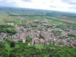Luchtfoto van het dorp Segonzac