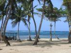 La plage a 400 pas  de votre logement, les barrières de corail forment une piscine naturelle !