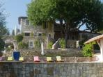 Front of la Bastide, with 7 b/r, 2 heated saltwater pools, sun terrace and summer kitchen
