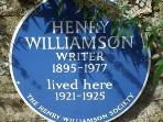 Skirr Cottage was the home of the acclaimed writer Henry Williamson.