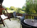 Ample space on the decking for relaxing and dining.  Plenty of wildlife to watch as well!