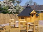 'Bettys Bothy' an all weather BBQ Cabin - eat outside on patio when sunny.