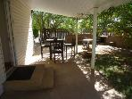 Covered rear patio